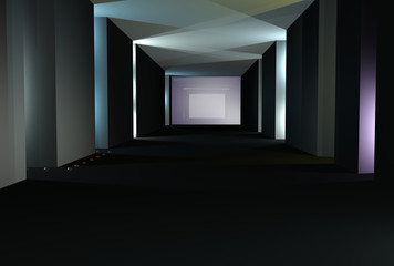 Abstract tunnel 3d