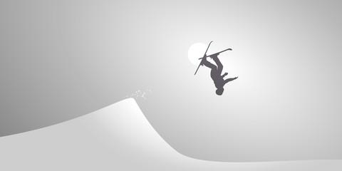 Ski Accrobatique-Neige