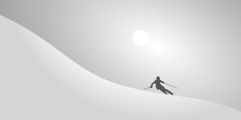 Skieur Alpin-Neige