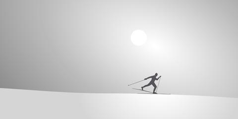 Skieur de Fond-Neige