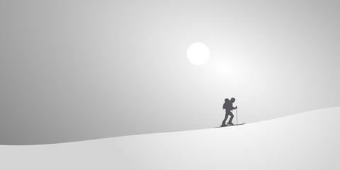 Skieur de Randonee-Neige