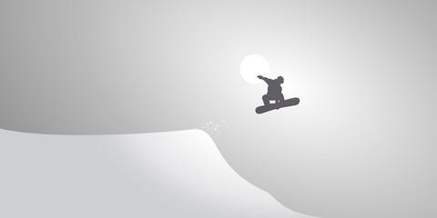 Snowboardeur-Neige