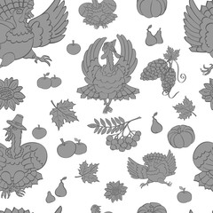 Turkey, Thanksgiving, pattern, illustration, vector