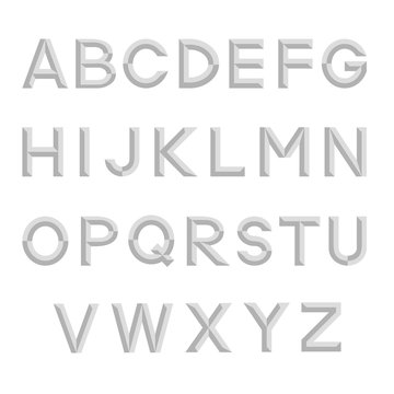 Decorative isolated alphabet