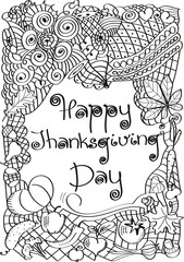Happy Thanksgiving day. Illustration. Abstract
