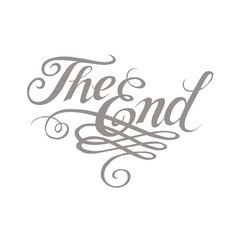 """Vector ornamental movie ending typography """"The End"""""""