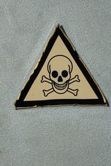 Aufkleber mit dem Symbol giftig