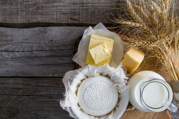 Foto op Textielframe Zuivelproducten Selection of dairy products