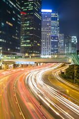 Hong Kong traffic at night