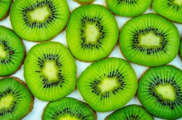 Bright green kiwi