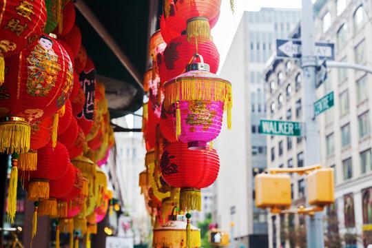chinesische Lampen in einem Laden in Chinatown, New York City