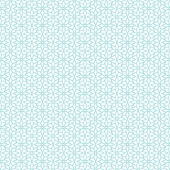Seamless Pattern Retro Stars Christmas Turquoise
