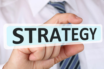 Businessman business concept with strategy for growth success