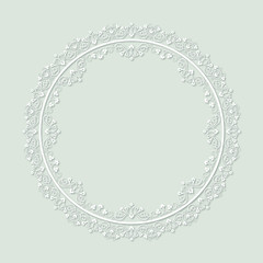 Vector floral round ornament