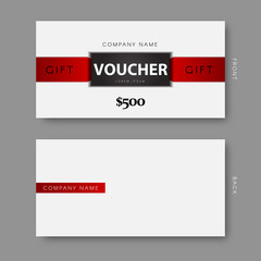 Modern 3D gift voucher template.