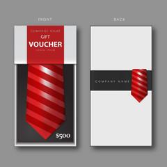 Necktie Gift Voucher Template.