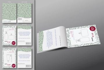Cosmetic brochure template.