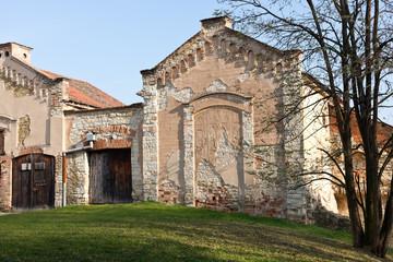 old abandoned storehouse