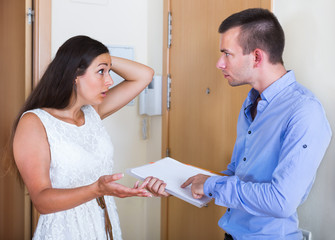 Confused tenant and furious landlord