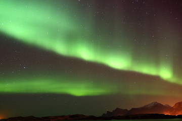 aurora boreale isole lofoten norvegia