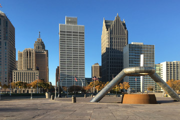 The Detroit, Michigan Skyline