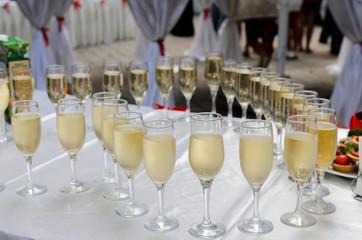 a few glasses of champagne