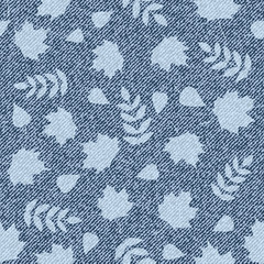 pattern with denim jeans background