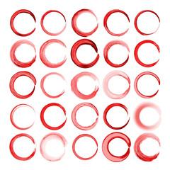 Set of watercolor circles,