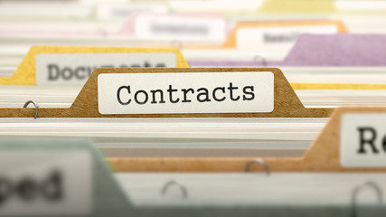 Contracts Concept on File Label.