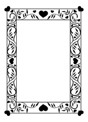 Elegant photo frame with floral silhouettes