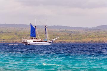Traditional Vintage Boat in Ocean, Maldives