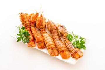 Mantis shrimps tomatoes