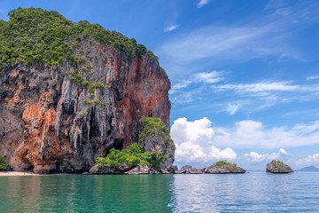 Famous Railey beach in the Thai province of Krabi. Wall mural