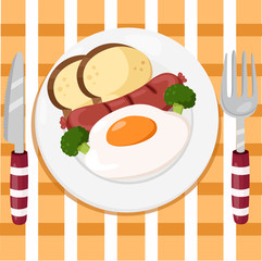 Illustrator of breakfast