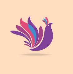 Bird of paradise - design template.