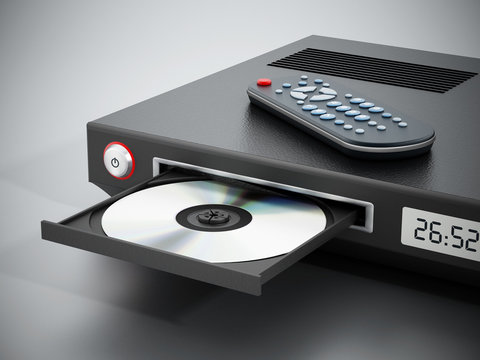 Blu-ray player with open disc tray