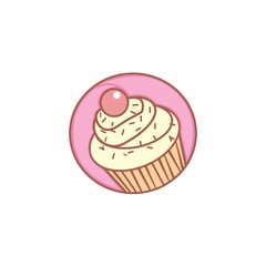 cupcake cartoon illustration