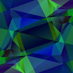 green blue polygonal background