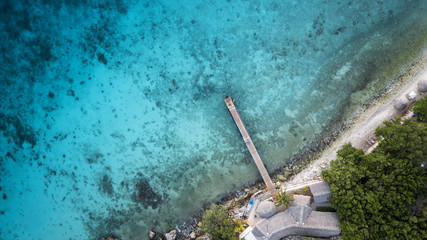 Strand - Karibik - Luftbild - Curacao