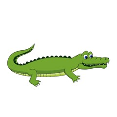 Cute Crocodile walking