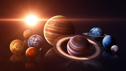 Wall Mural - Hight quality isolated solar system planets. Elements of this image furnished by NASA