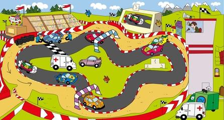 auto,tor wyścigowy,karetka