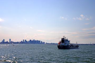 Boston skyline, Inner Harbor, USA ..