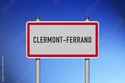 Panneau de ville clermont ferrand photo libre de droits - Piscine originale sims clermont ferrand ...