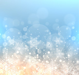 Winter elegant background with snowflakes