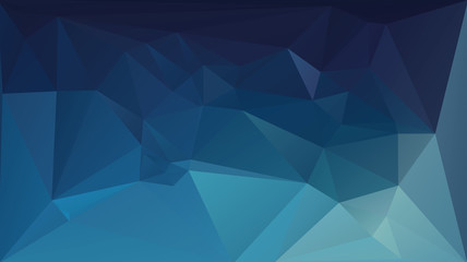 Dark blue polygonal vector background. Can be used in cover design, book design, website background, CD cover, advertising.