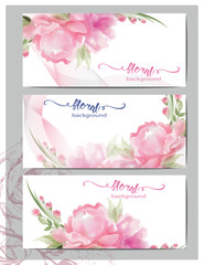 A set of flyers, brochures, templates design. Vintage cards with flower . Wedding, marriage, bridal, birthday, Valentine's day. Spring or summer banners vector.