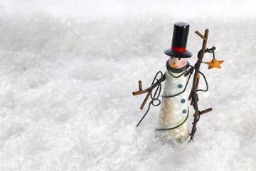 Christmas Snowman in Snow