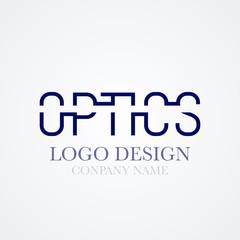 Vector illustration of logo design optics