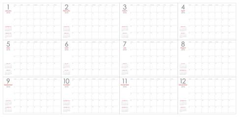 2016 table calendar